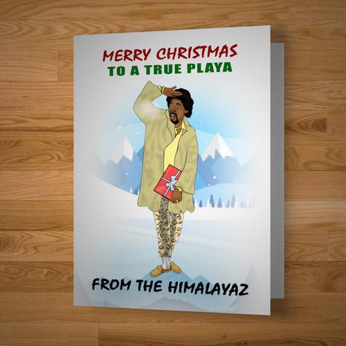 """True Playa"" Christmas Card"