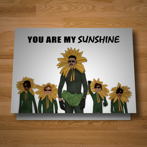 """Sunshine"" greeting card"