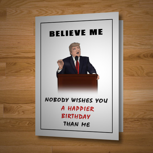 """Presidential"" birthday card"