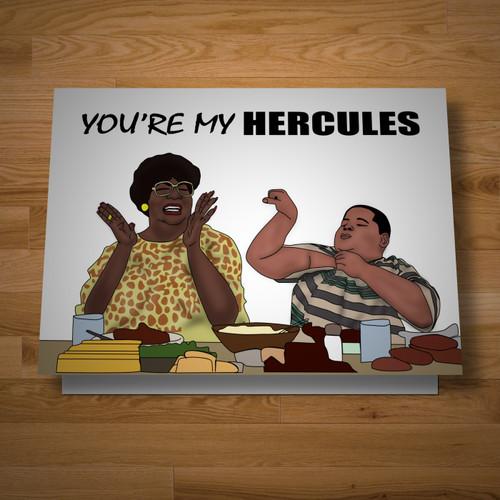 """""""Hercules, Hercules"""" card"""