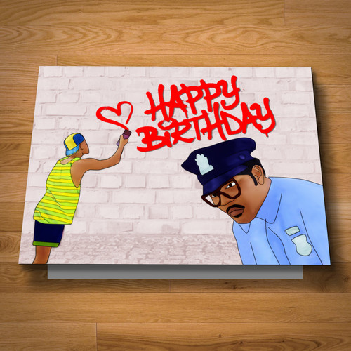 """Fresh Birthday"" card"