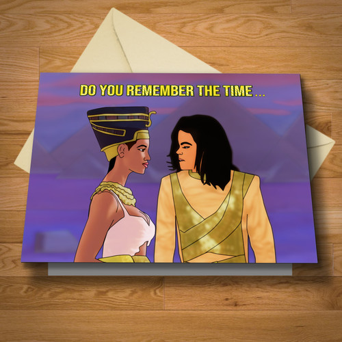 """""""Remember The Time"""" greeting card"""