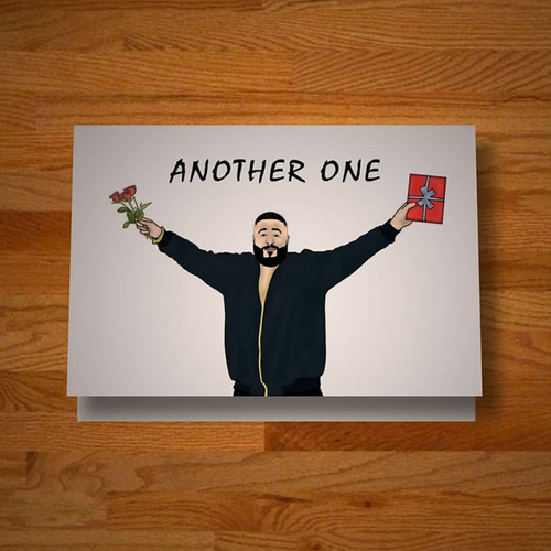 """Another Another Another One"" greeting card"