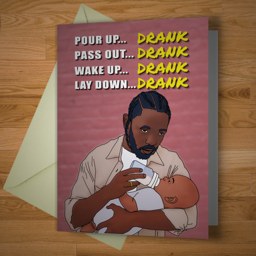 """Drank"" card"