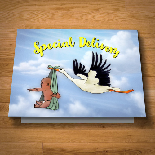 """Special Delivery"" greeting card"