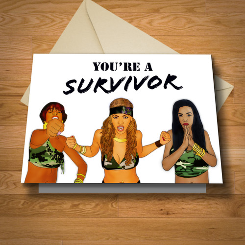 """Survivor"" card"