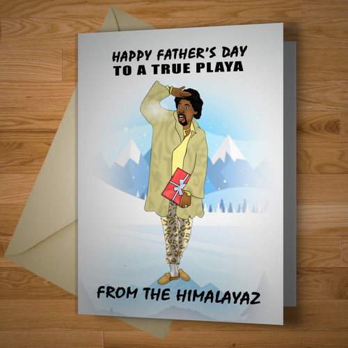 """Himalaya Playa"" Fathers Day Card"