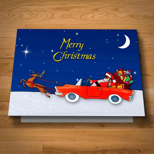 """Trap Santa"" card"