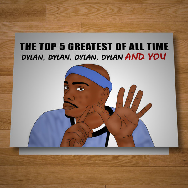 """Top 5"" greeting card"