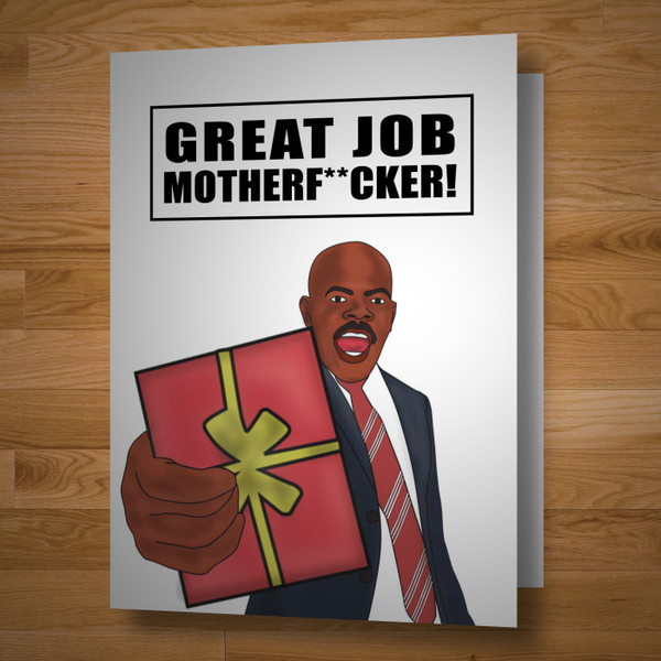"""Congrats Mfer"" greeting card"