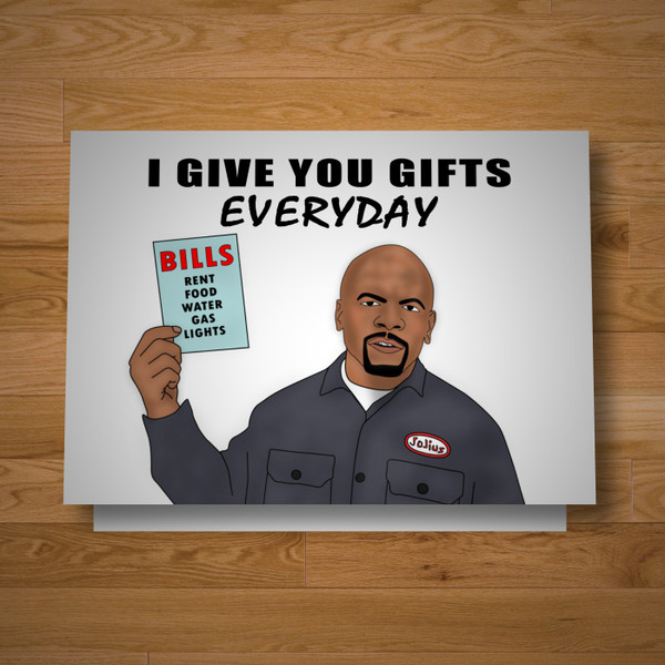 """Gifts Everyday"" greeting card"