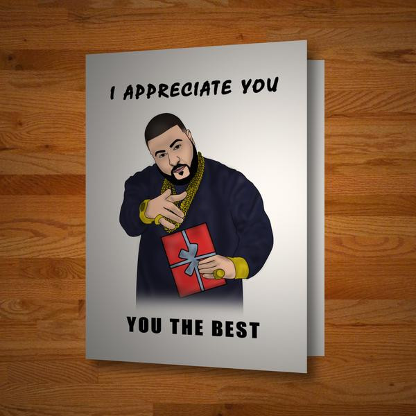 """""""You The Best"""" card"""