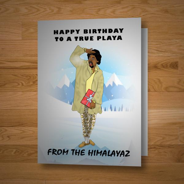 """""""True Playa"""" birthday card"""