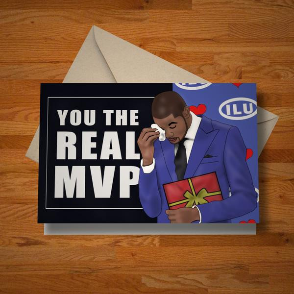 """""""The Real MVP"""" card"""