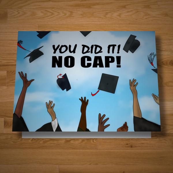 """""""No Cap"""" graduation card"""