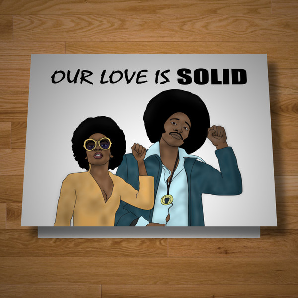 """Our Love Is Solid"" card"