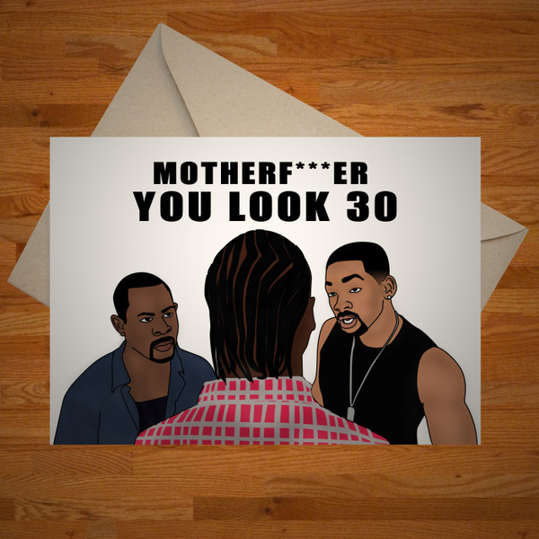 """You Look 30"" birthday card"