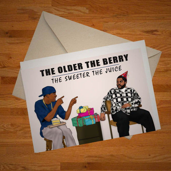 """""""Older The Berry"""" birthday card"""