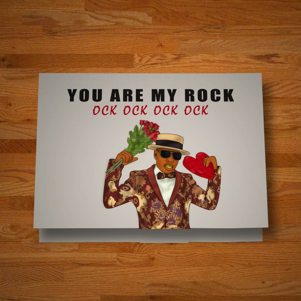"""""""You Are My Rock"""" card"""
