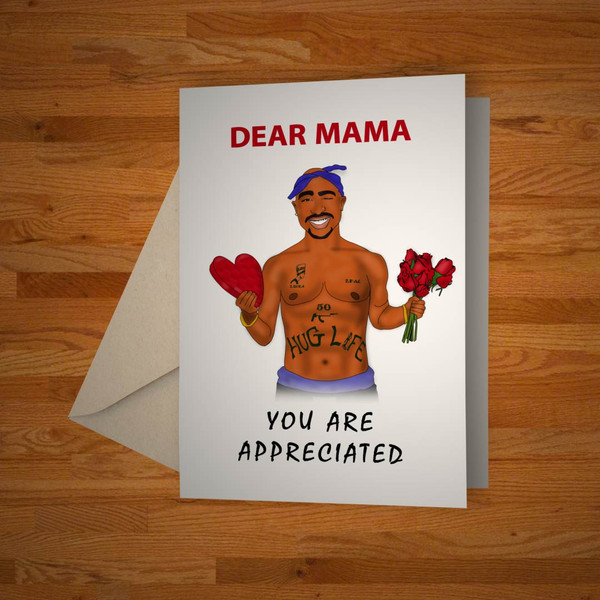 """""""Dear Mama"""" greeting card"""