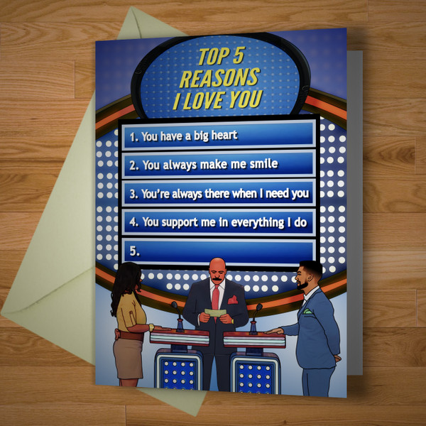 """Reasons I Love You"" greeting card"