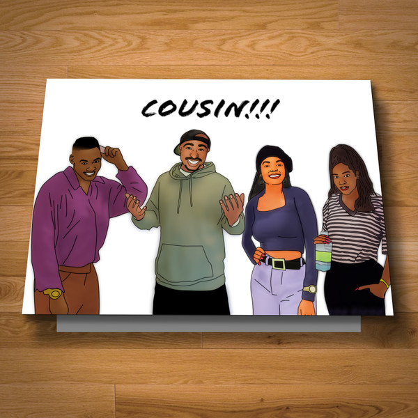 """Cousin"" card"