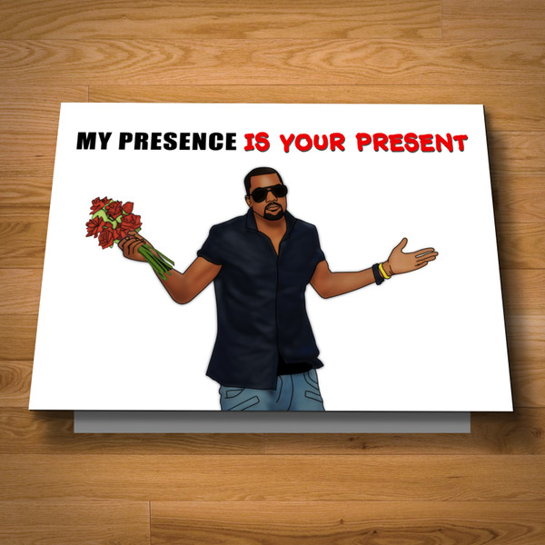 """""""My Presence Is Your Present"""" greeting card"""