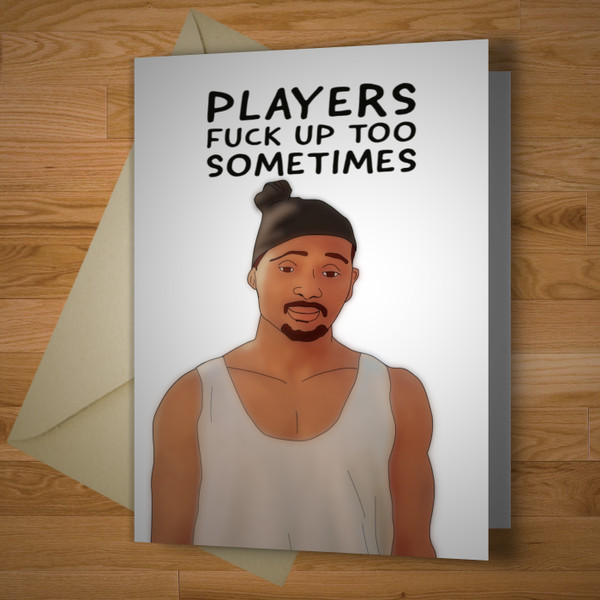 Players Apology Card