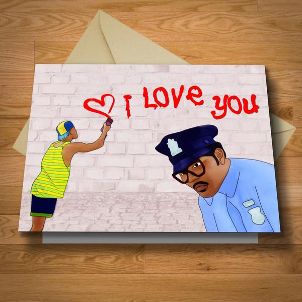 """""""Fresh"""" I love You card"""