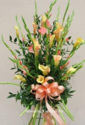 Calla and Glad Standing Spray