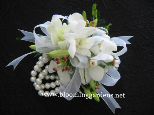 Delicate orchid corsage