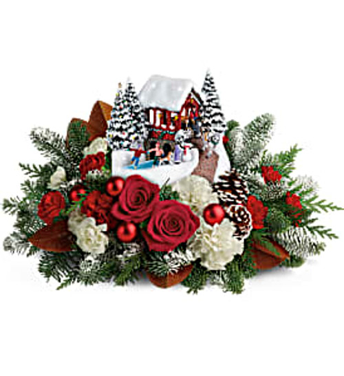 Teleflora's 2018 offering to the holiday Thomas Kinkade collection