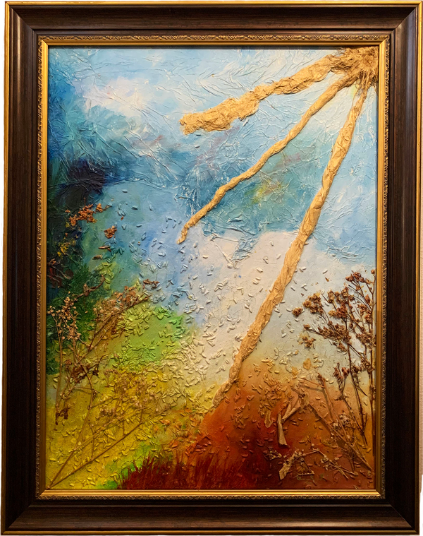 Mother Earth painting framed
