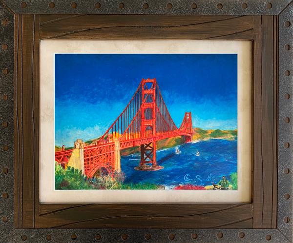 Pastel artwork framed