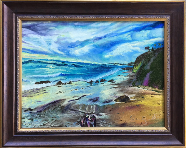 Seascape painting framed