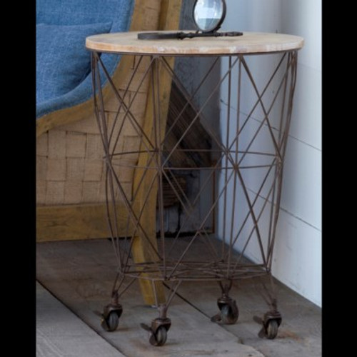 Wire Bin Table