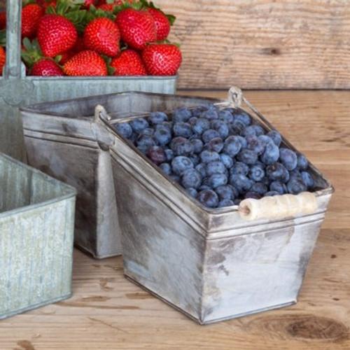 Double Blue Berry Basket