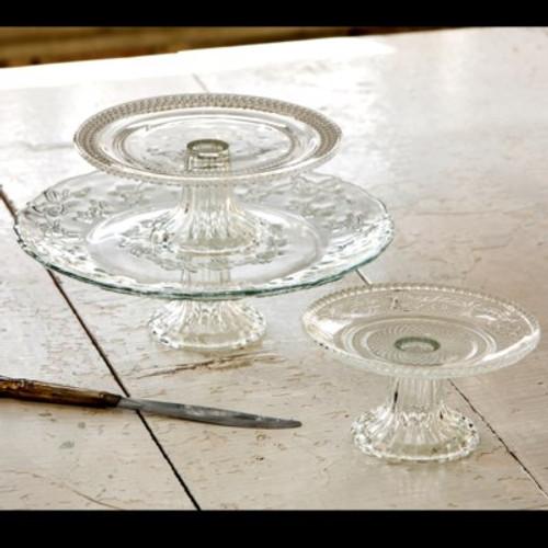 Glass Cake Plates Mixed Assortment