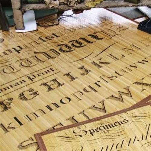 Tattoo Alphabet Bamboo Mat 3 x 5