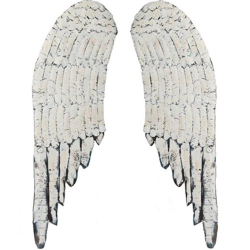 Large Distressed Angel Wings