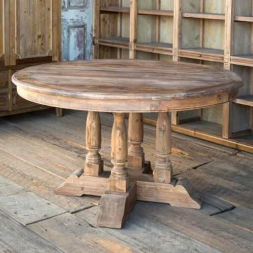 Old Pine Balustrade Table
