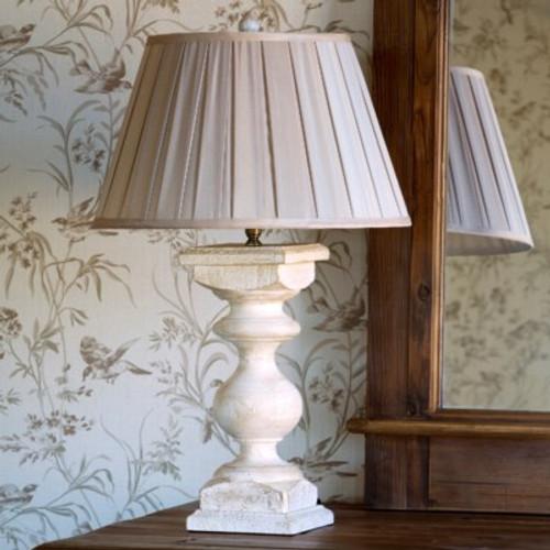 Antique White Balustrade Lamp