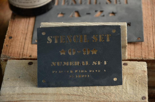 FRENCH Zinc Stencil Numbers 0 - 9
