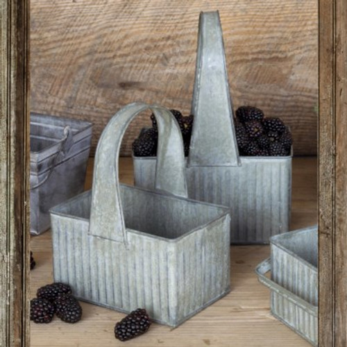Galvanized Berry Baskets Set of 2