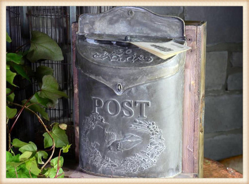 Vintage Style Mailbox With Embossed Bird