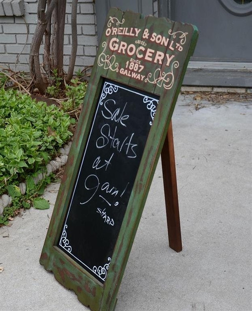 Grocery Style Chalkboard Sign