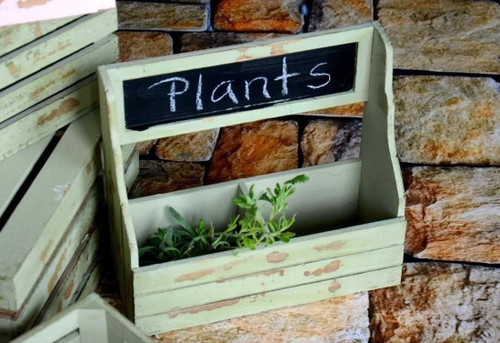 Sage Chalkboard Container Planter