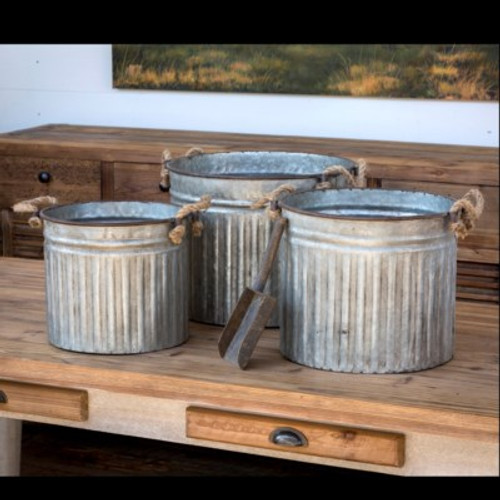 Metal Can Planters Set of 3