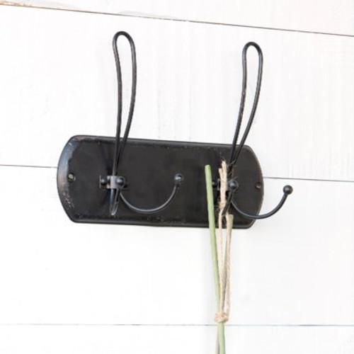 Black Metal Vintage Style Double Hanger