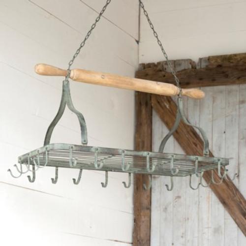 Hanging Rolling Pin Pot Rack